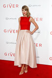 Taylor Swift. NEW YORK-AUG 11: Singer Taylor Swift attends the premiere of The Giver at the Ziegfeld Theatre on August 11, 2014 in New York City Stock Photos