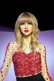 Taylor Swift Wax Figure. Taylor Alison Swift is an American singer-songwriter. Raised in Wyomissing, Pennsylvania, Swift moved to Nashville, Tennessee, at the Stock Photography