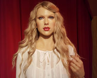 Taylor Swift Wax Statue Royaltyfria Bilder