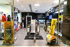 Taylormade golf accessories outlet Royalty Free Stock Photography