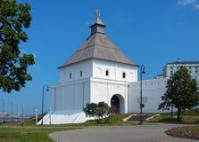 The Taynitskaya tower of the Kazan Kremlin, Russia Royalty Free Stock Photo