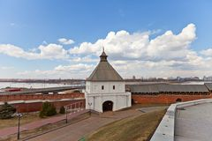 Taynitskaya Tower (1550) of Kazan Kremlin, Russia. UNESCO site Royalty Free Stock Images