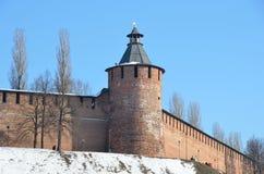 Taynitskayatoren van Nizhny Novgorod het Kremlin Royalty-vrije Stock Foto's