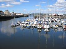 Tayport Hafen, Pfeife Lizenzfreie Stockfotos