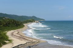 Tayrona, Colombia. The reserve Tayrone is one of three national parks of the Caribbean region of Colombia Royalty Free Stock Photos