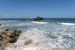 Tayrona, Colombia. The reserve Tayrone is one of three national parks of the Caribbean region of Colombia Royalty Free Stock Images