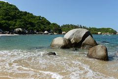 Tayrona, Colombia. The reserve Tayrone is one of three national parks of the Caribbean region of Colombia stock photo