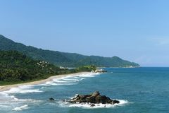 Tayrona, Colombia. The reserve Tyrone is one of three national parks of the Caribbean region of Colombia Stock Photos