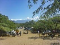 Tayrona Nationaal Park Bahia Concha Beach stock afbeelding