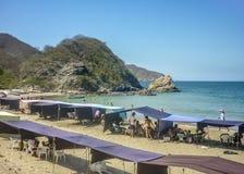 Tayrona Nationaal Park Bahia Concha Beach royalty-vrije stock afbeelding