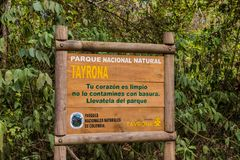 A view in Tayrona National Park in Colombia stock photo