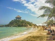Tayrona Park Cabo San juan Beach Stock Photography