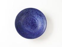 Tazón de fuente azul Fotografía de archivo libre de regalías