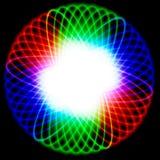 Tazón de fuente brillante con espectro de color Imagen de archivo libre de regalías