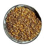 Tazón de fuente con el cereal imagen de archivo