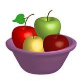 Tazón de fuente con las manzanas Fotos de archivo libres de regalías