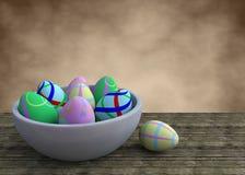 Tazón de fuente con los huevos del éster Imagen de archivo libre de regalías
