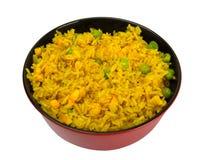 Tazón de fuente de arroz con los guisantes y el maíz Imagen de archivo libre de regalías