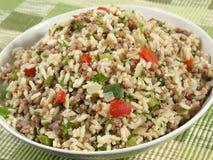 Tazón de fuente de arroz sucio Foto de archivo libre de regalías