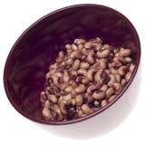 Tazón de fuente de Black Eyed Peas conservado imagenes de archivo