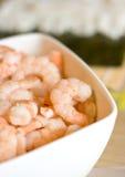 Tazón de fuente de camarones Imagen de archivo libre de regalías