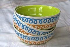 Tazón de fuente de cerámica Imagenes de archivo