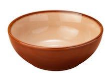 Tazón de fuente de cerámica de Brown Imagen de archivo