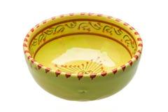 Tazón de fuente de cerámica vacío foto de archivo libre de regalías