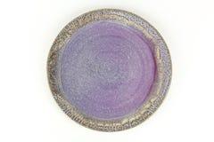 Tazón de fuente de cerámica vacío foto de archivo