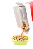 Tazón de fuente de copos de maíz Foto de archivo libre de regalías