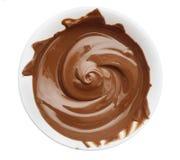 Tazón de fuente de crema del chocolate Fotos de archivo