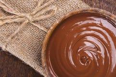 Tazón de fuente de crema del chocolate Imagen de archivo libre de regalías