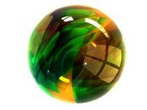 Tazón de fuente de cristal Foto de archivo