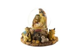 Tazón de fuente de cristal de la nieve de la Navidad Imagen de archivo libre de regalías