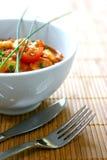Tazón de fuente de curry del masala del pollo Foto de archivo