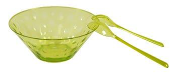 Tazón de fuente de ensalada. Aislado fotos de archivo
