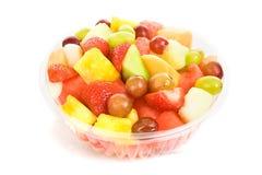 Tazón de fuente de ensalada de fruta Foto de archivo libre de regalías