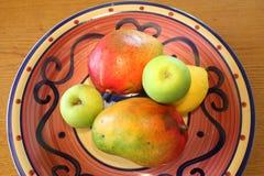 Tazón de fuente de fruta Fotografía de archivo libre de regalías
