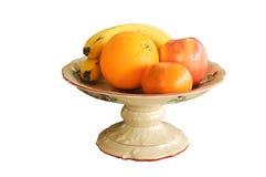 Tazón de fuente de fruta Imágenes de archivo libres de regalías