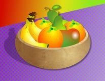 Tazón de fuente de fruta ilustración del vector