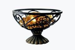 Tazón de fuente de fruta decorativo imagen de archivo
