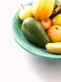 Tazón de fuente de fruta fresca Fotografía de archivo