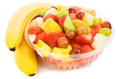 Tazón de fuente de fruta tropical imagen de archivo