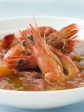 Tazón de fuente de Gumbo criollo del camarón Imagenes de archivo