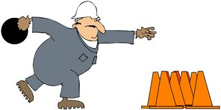 Tazón de fuente de la construcción stock de ilustración