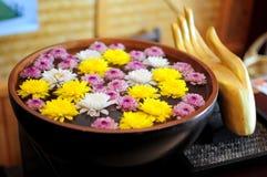 Tazón de fuente de la flor imagen de archivo