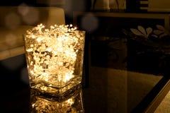 Tazón de fuente de la luz de la Navidad Imágenes de archivo libres de regalías