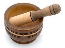 Tazón de fuente de madera Imagen de archivo