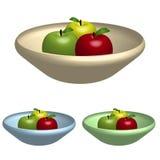 Tazón de fuente de manzanas Imagenes de archivo