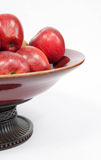 Tazón de fuente de manzanas Fotos de archivo libres de regalías